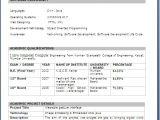 B.tech Professional Resume B Tech Final Year Resume