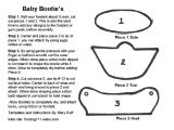 Baby Bootie Fondant Template Baby Booties Template for Cake