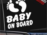 Baby On Board Template Foot Print Baby On Board Vinyl Sticker for Window or