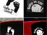 Baby On Board Template New Quot Baby In Car Quot Baby On Board Child Window Bumper Car