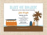 Baby On Board Template Surfboard Baby Invitation Surfer Dude Baby Shower or