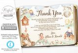 Baby Thank You Card Wording Nursery Rhyme Baby Shower Thank You Card Mother Goose Thank