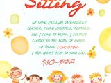 Babysitter Flyers Template 17 Babysitting Flyer Designs Examples Psd Ai Word