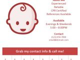 Babysitter Flyers Template Best 20 Babysitting Flyers Ideas On Pinterest