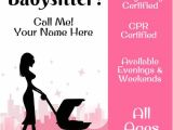 Babysitter Flyers Template Best 25 Babysitting Flyers Ideas On Pinterest