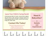 Babysitter Flyers Template Printable Babysitting Flyers