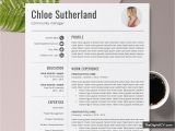 Back Office Resume format Word Editable Resume Template for Word 1 3 Page Job Resume