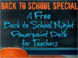 Back to School Night Powerpoint Templates Back to School Night Free Customizable Powerpoint 2015