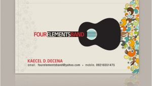 Band Business Card Template Four Elements Band Business Card 2007 by Nollzzju On