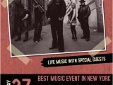 Band Flyers Templates Free Red Indie Band Concert event Flyer Template with Picture