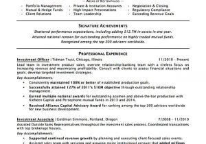 Banking Professional Resume Investment Banking Resume Sample Professional Resume