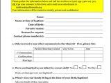 Baptism Sponsor Certificate Template Archives