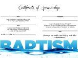 Baptism Sponsor Certificate Template Items Similar to Certificate Of Baptism Sponsorship On Etsy