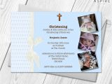 Baptism Thank You Card Wording Personalised Girls Boys Christening Invitations with Photo