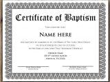 Baptismal Certificate Template 14 Baptism Certificate Templates Samples Examples