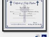 Baptismal Certificate Template 20 Sample Baptism Certificate Templates Free Sample