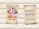 Barber Shop Business Card Templates Barber Shop Business Card Template Business Card