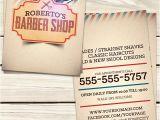 Barber Shop Business Card Templates Barber Shop Business Card Template Flyerstemplates