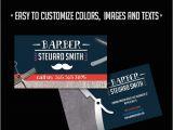 Barber Shop Business Card Templates Barber Shop Premium Business Card Psd Template by