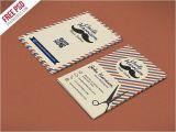 Barber Shop Business Card Templates Free Psd Retro Barber Shop Business Card Psd Template by