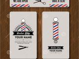 Barber Shop Business Card Templates Hair Salon Barber Shop Business Card Design Template Set