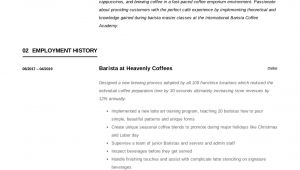 Barista Resume Sample Barista Resume Writing Guide 12 Resume Templates Pdf