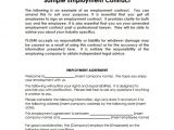 Basic Contract Of Employment Template Sample Basic Contract Template 18 Free Sample Example