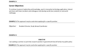 Basic General Resume Objective General Resume Objective Sample 9 Examples In Pdf