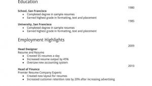 Basic General Resume Template General Resume Template Free Resume Template Ideas Job