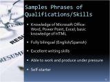 Basic Knowledge Of Spanish Resume Resume