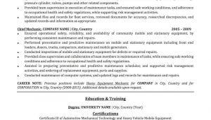 Basic Mechanic Resume Mechanic Resume Sample Professional Resume Examples