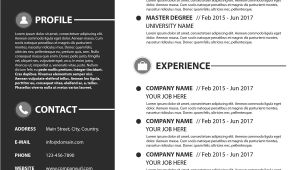 Basic Modern Resume Modern Simple Resume Template Psd Psd Free Download