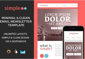 Basic Responsive Email Template Simple Responsive Email Template Email Templates On