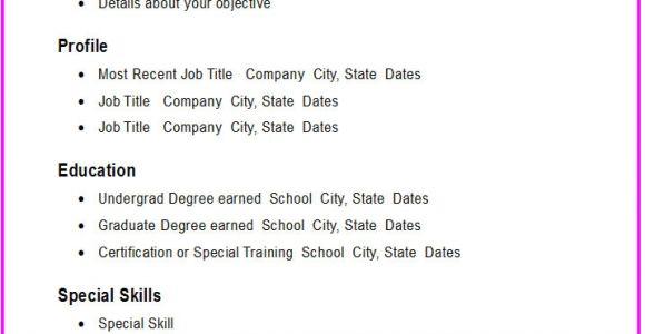 Basic Resume Builder Basic Resume Template E Commerce