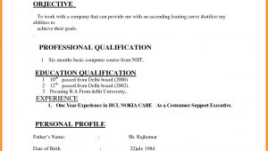 Basic Resume Examples India India Resume format Download Simple Resume format