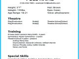 Basic Resume for Beginners Actor Resume Sample Presents How You Will Make Your