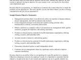 Basic Resume Goals Resume Objectives
