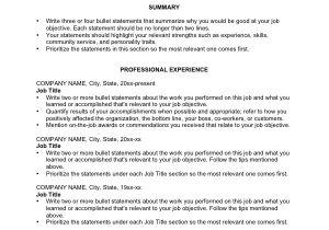 Basic Resume Guide 6 Basic Chronological Resume Templates Professional