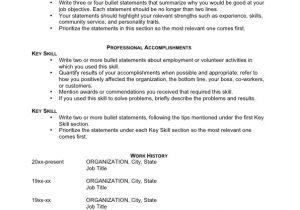 Basic Resume Guide Jobstar Resume Guide Template for Functional Resumes