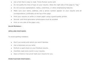 Basic Resume Guide Most Important Basic Resume Tips 1