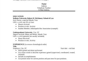 Basic Resume Guide Resume Principles Fonts Margin and Paper Selection