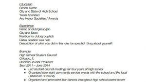 Basic Resume High School Student High School Resume Template 9 Free Word Excel Pdf