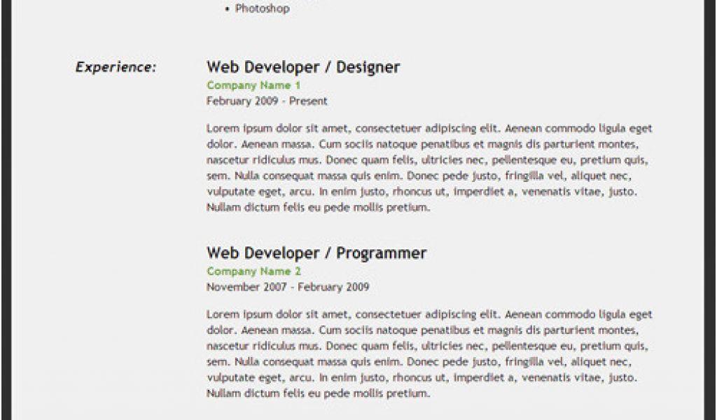 basic resume html code how to create an html5 microdata