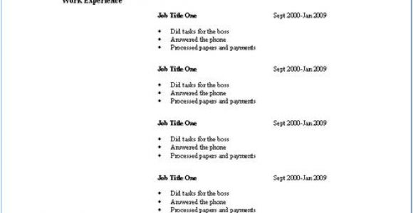 Basic Resume Ideas Basic Resume Templates Download Resume Templates