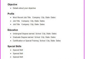 Basic Resume Images Basic Chronological Resume Template Open Resume Templates