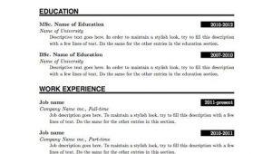 Basic Resume Model Pdf Simple Resume format Pdf Resume Pdf Resume format