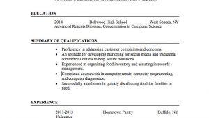 Basic Resume No Experience 21 Basic Resumes Examples for Students Internships Com