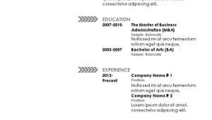 Basic Resume Pattern Simple Resume Template