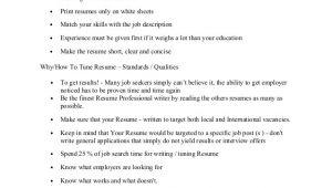 Basic Resume Preparation Resume Preparation Writing Basic Outlines