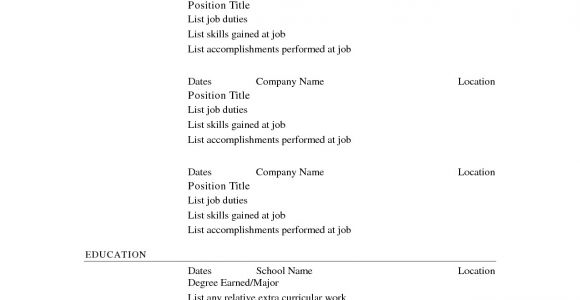 Basic Resume Print Out Printable Resume Templates Free Printable Resume